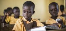 Children attending school in Northern Ghana, December 2015