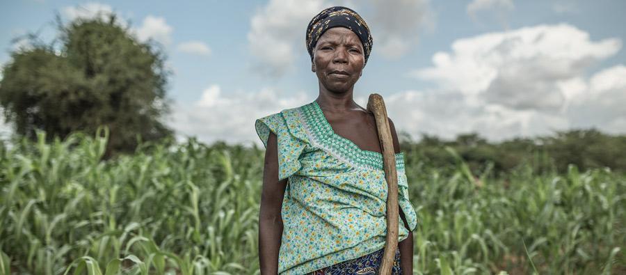 Noaga Ouèda, agricultora de 52 años, vive con sus 8 hijos y otros 17 familiares en la comunidad de Kario, Burkina Faso.