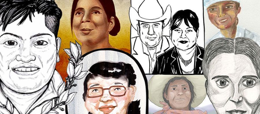 Éstas son Arminda (Bolivia), Elsi (Bolivia), Flor (El Salvador), Teresa (Guatemala), Manuela (México),  Rocío(México), Máxima (Perú),todas ellas criminalizadas en América Latina por defender alguna causa