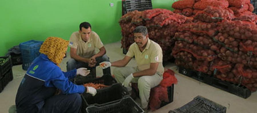 Centre d'approvisionnement alimentaire de Rabouni, Sahara occidental.