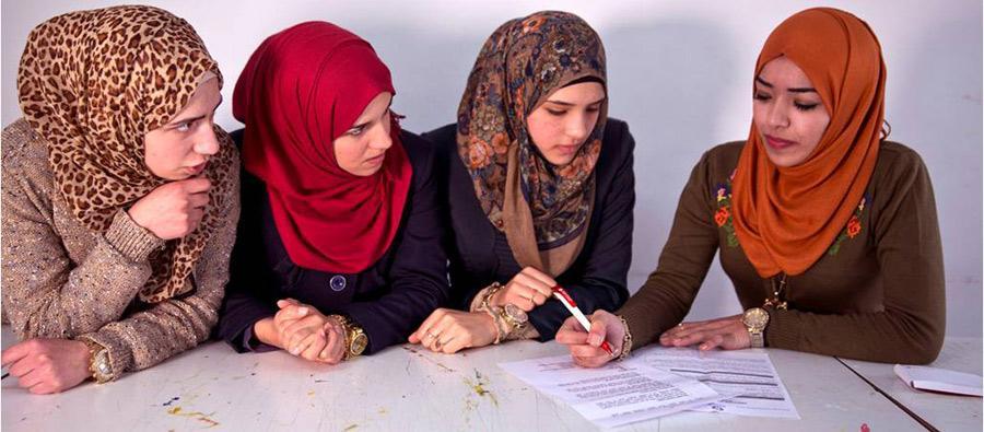 Hiba Awwad de Ramala, Palestina, preside el consejo de estudiantes de su universidad. Autor: Oxfam