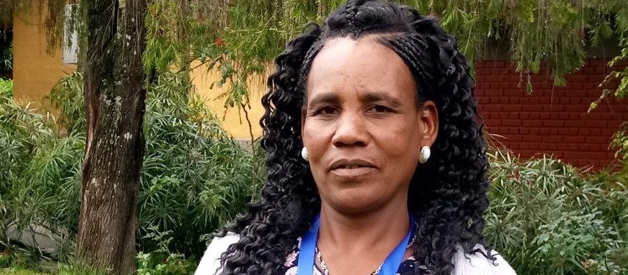 "Asgedech says producing vegetables is her favorite part of farming. ''I just love and enjoy the work and the result is always very rewarding. I built my house from the revenue I made from producing and selling only carrots""."