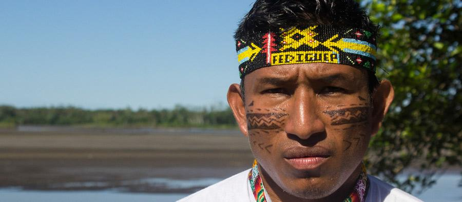 Teddy Guerra is the charismatic and outspoken 30-year-old leader of the Quechua community in the town of Nuevo Andoas. Photo: Oxfam