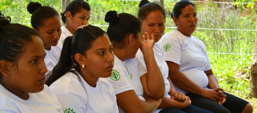 Mujeres emprendedoras reciben una formación, Nicaragua.
