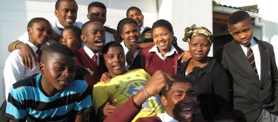 Boys and girls who participate in the Rape Crisis Cape Town Trust, in Khayelitsha, South Africa