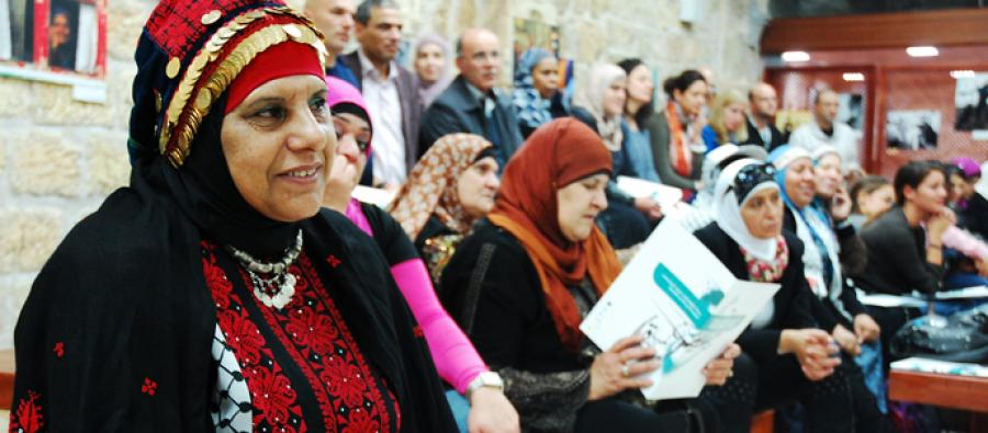 Women leaders in the Occupied Palestinian Territories. Credit: AMAL program/Oxfam