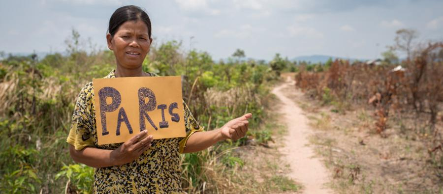 Mrs. Sao Khea, 45, has learned about disaster risk reduction and how to overcome the challenges and minimize the risks caused by climate change.