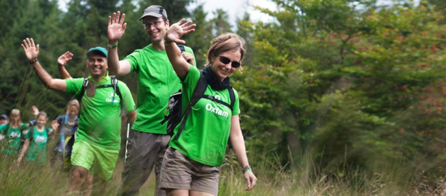 Oxfam Trailwalker, Belgium. Photo: Oxfam Belgium