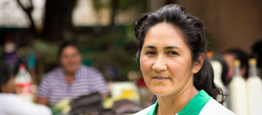 Perla María Rodríguez es vicepresidenta de la secretaría de la mujer de su organización. Foto: A. Velázquez / Oxfam