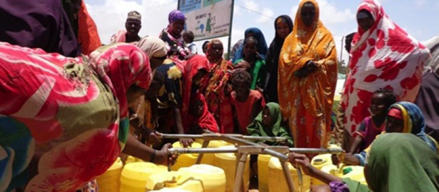 Water system in Horseed IDP settlement of Hodan district, Mogadishu, Somalia. Photo: Oxfam