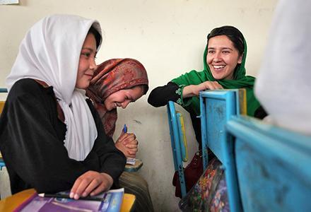 Schoolgirls in Afghanistan