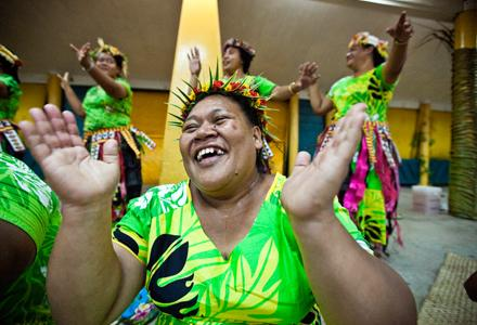 Women dancing. Pacific Islands