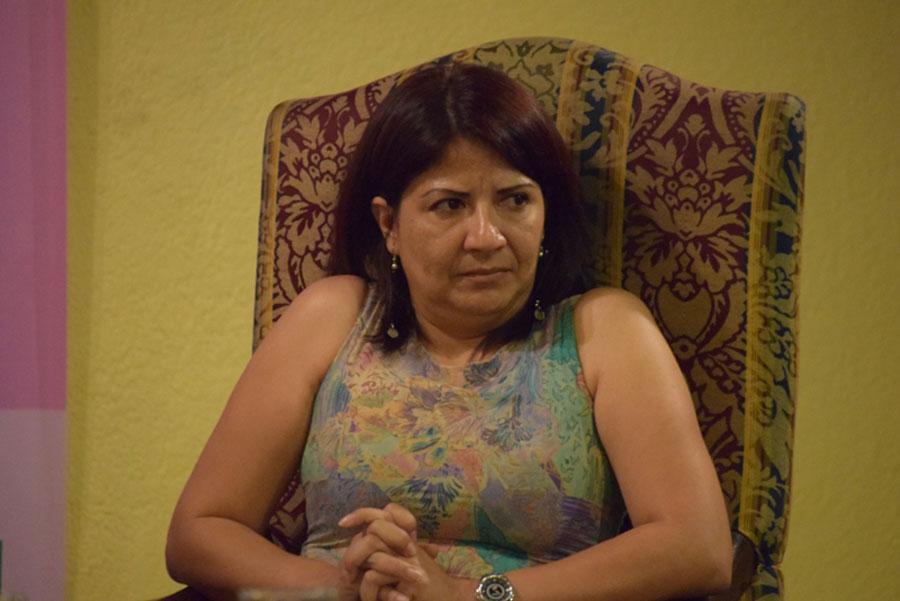 Yolanda Oquelí, lideresa del movimiento de resistencia pacífico La Puya ante el proyecto minero El Progreso Derivada VII. Foto: Oxfam